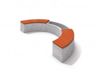 Donica betonowa zestaw z ławką 01