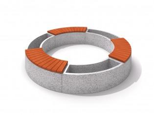 Donica betonowa zestaw z ławką 03