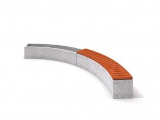 Donica betonowa zestaw z ławką 04