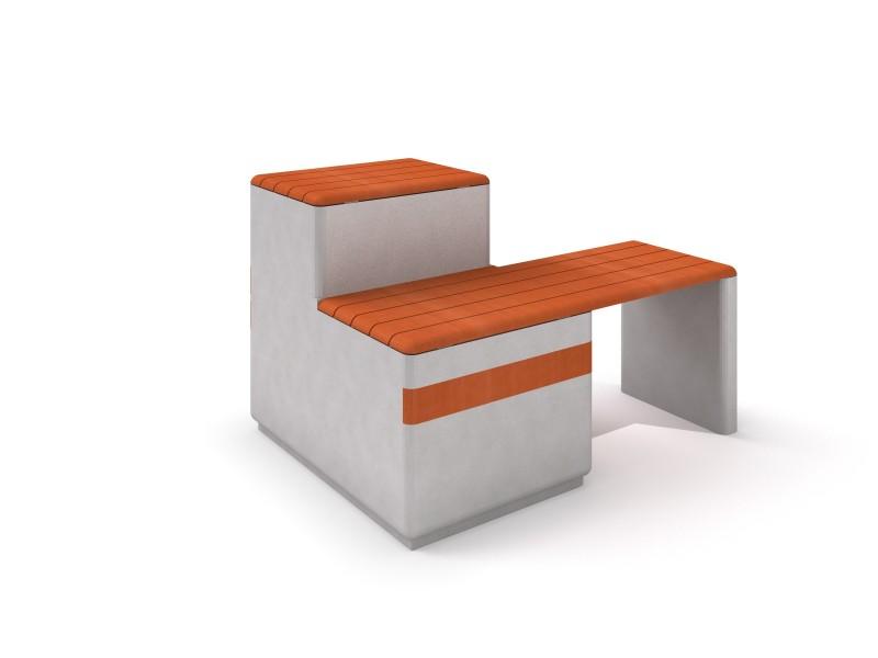 Ławka betonowa DECO 10 Place zabaw INTER-FUN