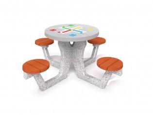 Betonowy stół do gry w chińczyka 03
