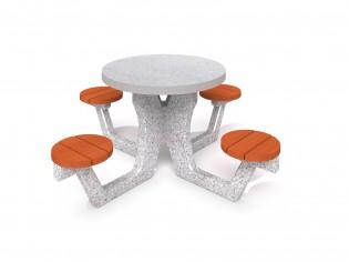 Betonowy stół piknikowy 03