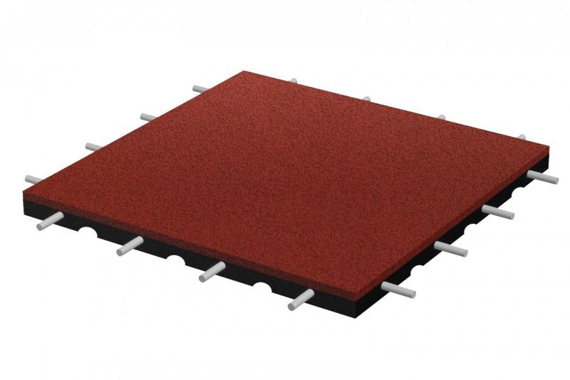 Bezpieczna płytka 500x500x30mm - czerwona Plac zabaw bezpieczna-plytka-500x500x30mm-czerwona-317-27