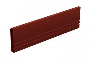 INTER-FUN - Elastyczny krawężnik 1000 x 250 x 50 mm - czerwony