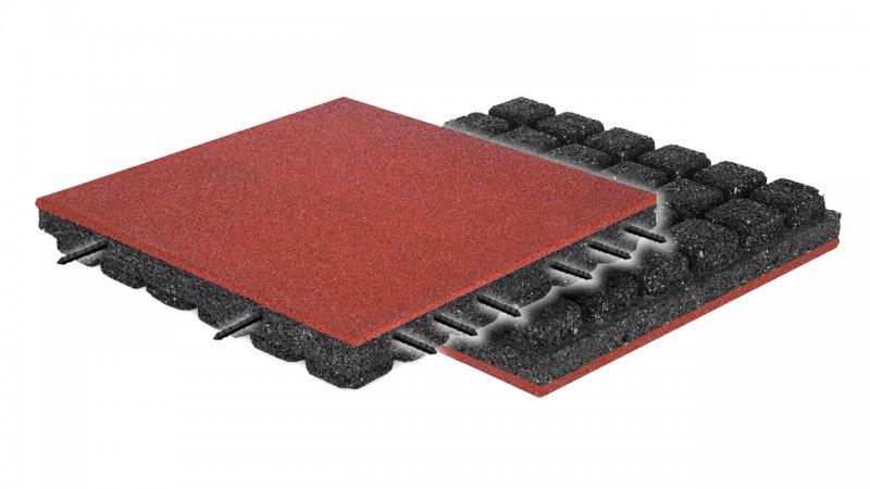 FLEXI-STEP PLUS bezpieczna płytka 500x500x50-90mm Plac zabaw plac-zabaw-nawierzchnia-flexi-step-plus-bezpieczna-plytka-500x500x50-90mm