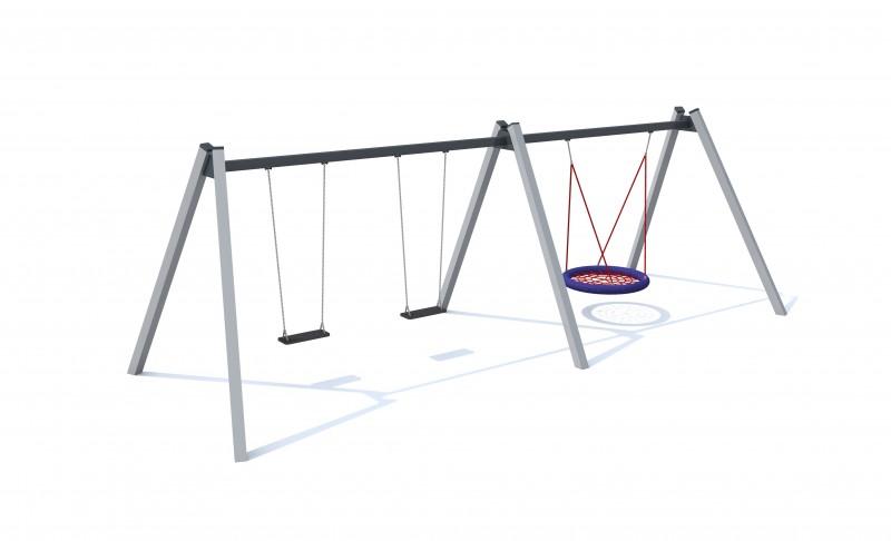 Huśtawka wahadłowa Neptune 1 Plac zabaw playground-swings-neptune81